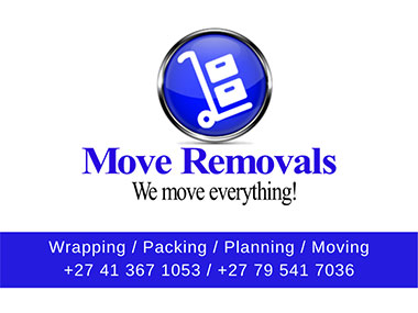 Move Removals  - Move Removals will move you safely from A to B. We provide residential and commercial moving services both domestic and nationally across the entire South Africa. We'll move you fast - at a very affordable rate.